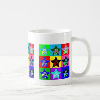 Fun & Colorful Pit Bull Coffee Cup - Trendy & Hip Classic White Coffee Mug