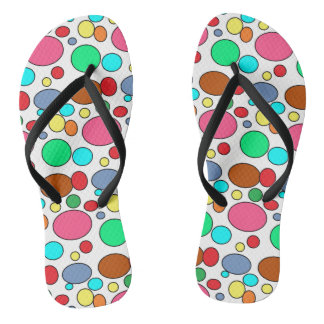 Fun Colorful Polka Dots Design Thongs