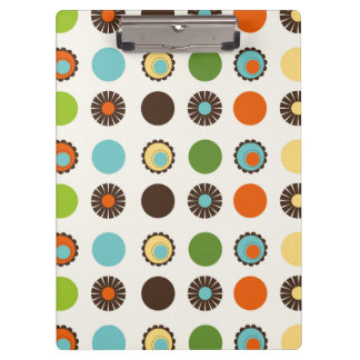 Fun Colorful Retro Boho Abstract Pattern Clipboard