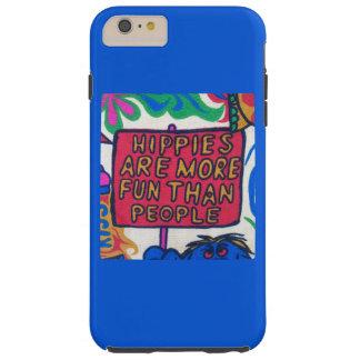 Fun Colorful Retro Hippie Blue Artwork Tough iPhone 6 Plus Case