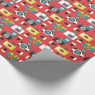 Fun Colorful Retro Lomo Cameras Pattern Wrapping Paper