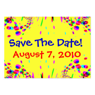 Fun Colorful Save The Date Card Business Cards