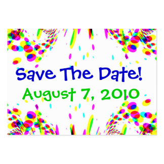 Fun Colorful Save The Date! Card Business Card Templates