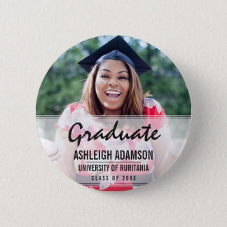 Fun Colorful Silhouettes | Graduation Party 6 Cm Round Badge