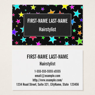 Fun, Colorful Stars Pattern Business Card