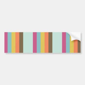 Fun Colorful Stripes Blue Orange Purple Brown Bumper Sticker