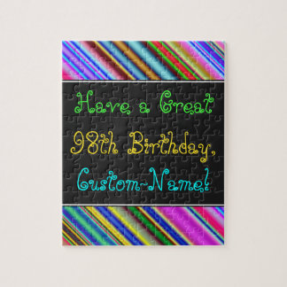 Fun, Colorful, Whimsical 98th Birthday Puzzle