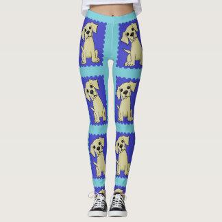 Fun Colorful Yellow Lab Dog Leggings