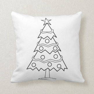 Fun Colour at Home Christmas Tree Craft Throw Pillow