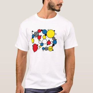 fun colour circles mondrian style T-Shirt