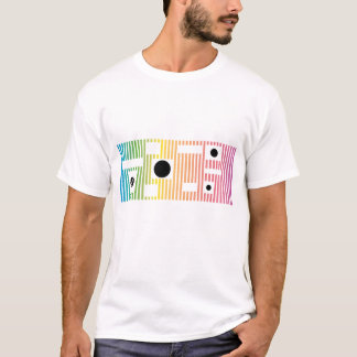fun colour line and dot T-Shirt