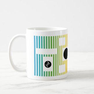 fun colour line circle coffee mug