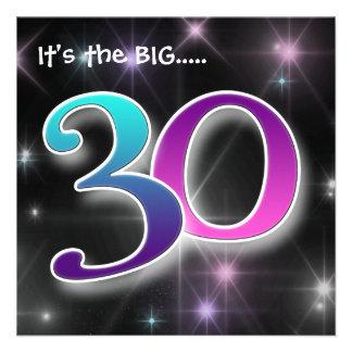 Fun Colourful 30th Birthday Party Invitation