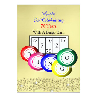 Fun Colourful Bingo Themed Party Card