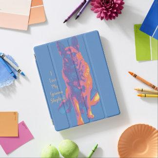 Fun Colourful German Shepherd iPad Cover