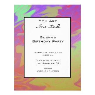 Fun Colourful Party Invite 21.5 Cm X 28 Cm Flyer