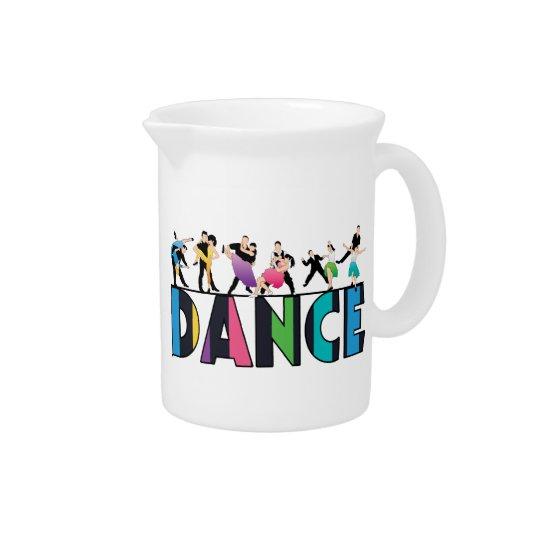 Fun & Colourful Striped Dancers Dance Pitcher