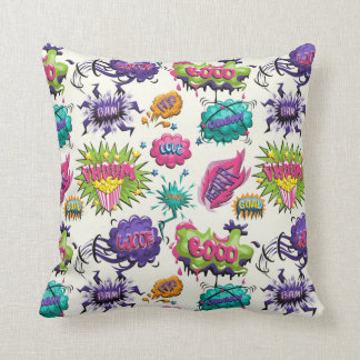 Fun Comic Bubbles Cushion