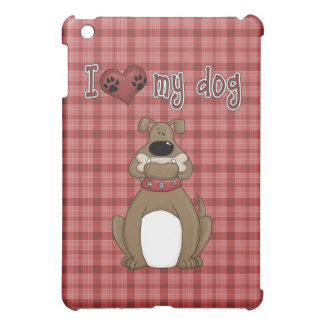 Fun Comic Love my Dog  Cover For The iPad Mini