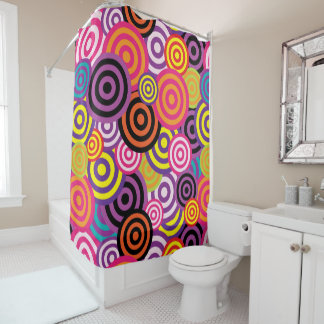 Fun & Cool Circles Shower Curtain