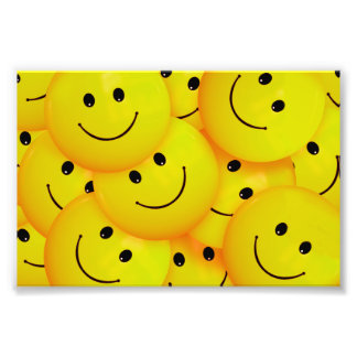 Fun Cool Happy Yellow Smiley Faces Photo Art