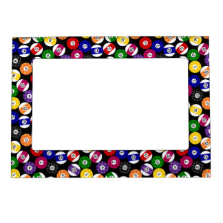 Fun Country Style Checkered Billiards Pattern Magnetic Picture Frame