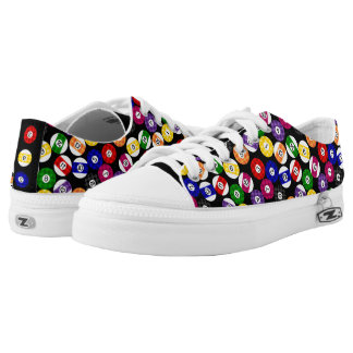 Fun Country Style Chequered Billiards Pattern Low Tops