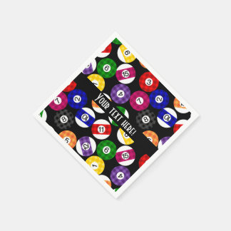 Fun Country Style Chequered Billiards Pattern Paper Serviettes