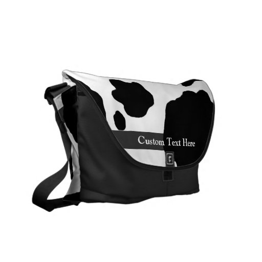 Fun Cow Print Personalized Messenger Bag