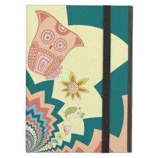 Fun Crazy Owl Birds Chevron Pattern iPad Air Cover