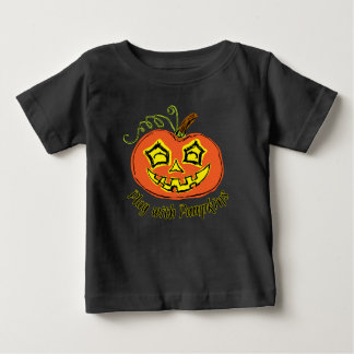 Fun & Creepy Orange Play Pumpkin Baby T-Shirt