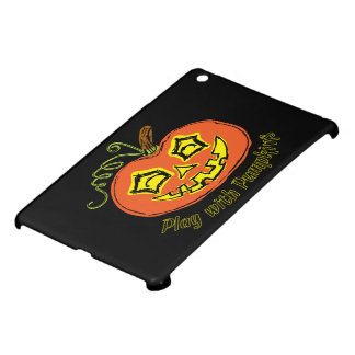 Fun & Creepy Orange Play Pumpkin iPad Mini Case