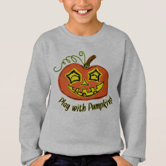 Fun & Creepy Orange Play Pumpkin Sweatshirt