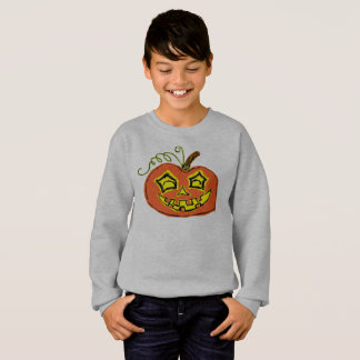 Fun & Creepy Orange Pumpkin Sweatshirt