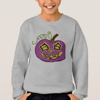 Fun & Creepy Purple Pumpkin Sweatshirt