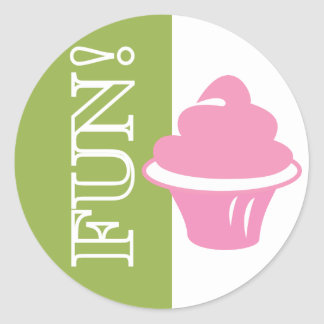 Fun Cupcake Round Sticker