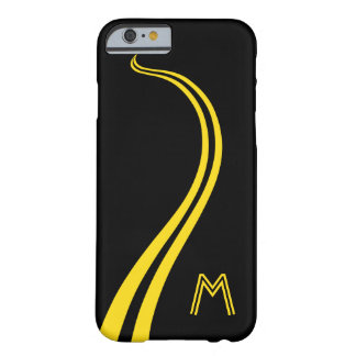 Fun, Curving, Double-Yellow Line Road Barely There iPhone 6 Case