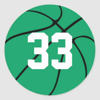 Fun Custom Green Basketball Jersey Number Stickers