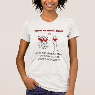 Fun Custom Player Positions Design Netball Trip T-Shirt