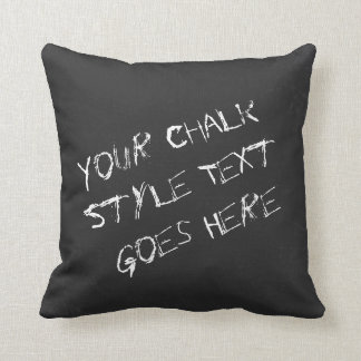 Fun Customisable Chalk Font And Blackboard Style Throw Pillow