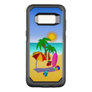Fun Cute Beach Bum or Bunny Sun Sea and Surf Scene OtterBox Commuter Samsung Galaxy S8 Case