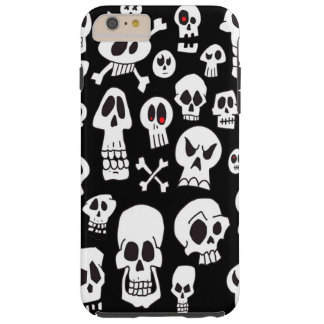 Fun Cute Hand Drawn Skulls Tough iPhone 6 Plus Case