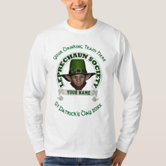 Fun cute leprechaun personalized St Patrick's day T Shirt