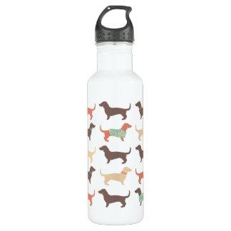 Fun Dachshund Dog Pattern 710 Ml Water Bottle