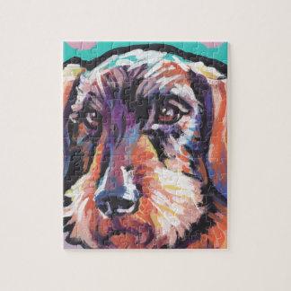 Fun DACHSHUND doxie dog bright colorful Pop Art Jigsaw Puzzle