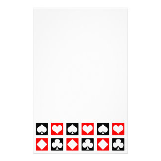 Fun Deck of Cards Personalized Stationery
