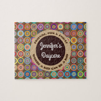 Fun & Decorative Circles Personalized Daycare Jigsaw Puzzle