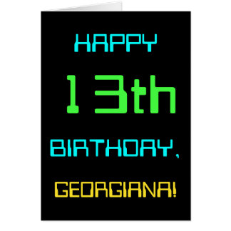 Fun Digital Computing Themed 13th Birthday Card