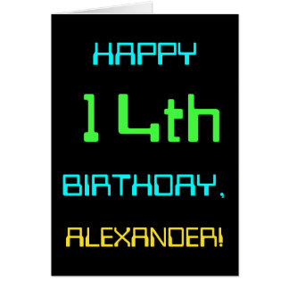 Fun Digital Computing Themed 14th Birthday Card