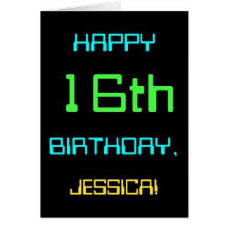 Fun Digital Computing Themed 16th Birthday Card